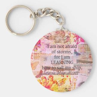 Inspirera citationstecken för Louisa majAlcott Rund Nyckelring