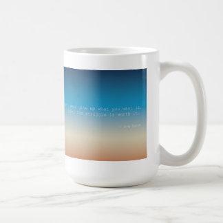 Inspirera citationsteckenkaffemug. kaffemugg