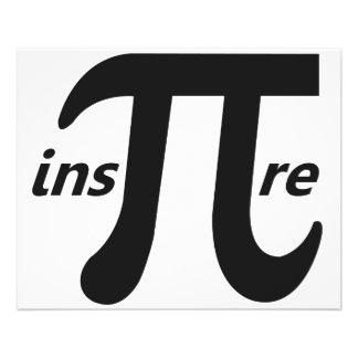 Inspirera det inspirera Pi-symbolet Flygblad