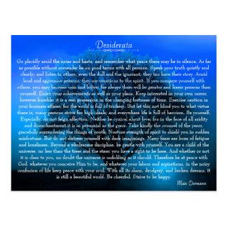 Inspirera dikt för Desiderata med det mystiska Vykort