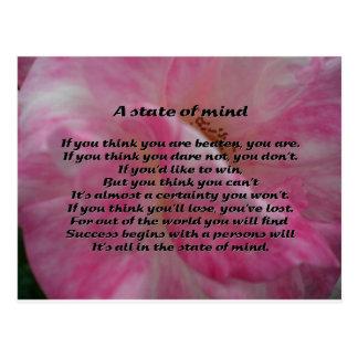 Inspirera dikt vykort