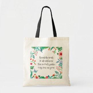 Inspirera diktgud trädgårds- blommigt tygkasse