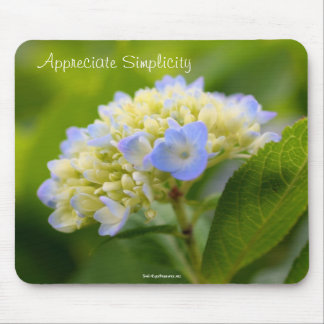 Inspirera enkelhet Mousepad för vanlig hortensia Musmatta