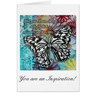 Inspirera fjärilskonstge din drömvingar hälsningskort