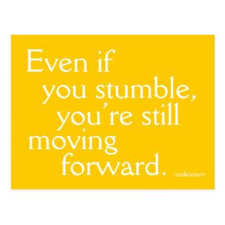 Inspirera framgång - Motivational vykort