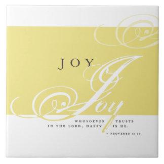 Inspirera glädje belägger med tegel kakelplatta