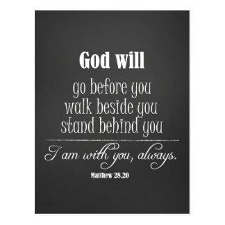 Inspirera gud ska citationstecken med bibelVerse Vykort