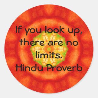 inspirera hinduisk Proverb från Indien Runt Klistermärke