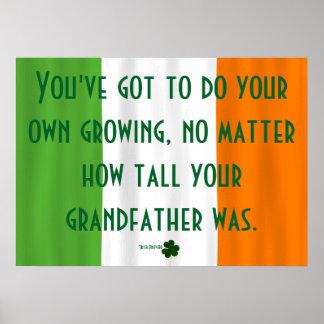 Inspirera irländsk irländare för poster