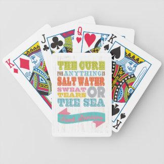 Inspirera konst - boten är salt vatten spelkort