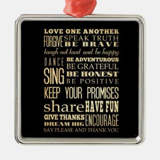 Inspirera konst - kärlek en Another. Julgransprydnad Metall
