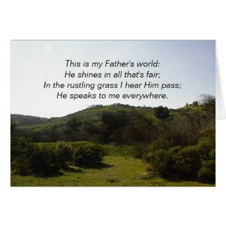 Inspirera kort: Denna är min far värld Hälsningskort