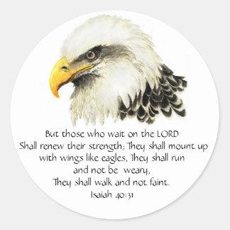 Inspirera örn - - Scripture - dem den väntan Runt Klistermärke