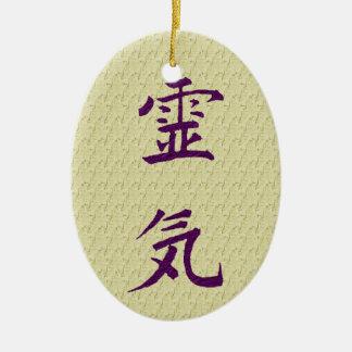 Inspirera prydnad för Reiki symbolprinciper Julgransprydnad Keramik