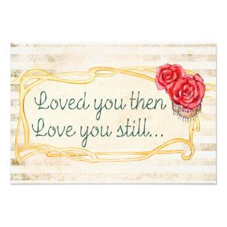 Inspirera romantiskt citationstecken för kärlek fototryck