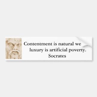 Inspirera Socrates-citationstecken Bildekal
