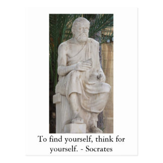Inspirera Socrates-citationstecken Vykort