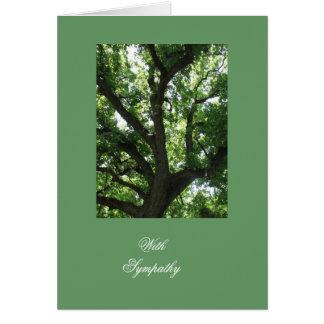 Inspirera sympati för träd hälsningskort