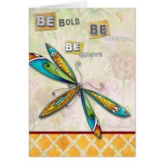Inspirera Uplifting djärvt härligt kort för