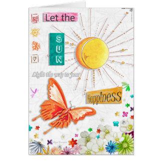 Inspirera Uplifting lyckafjärilskort Hälsningskort