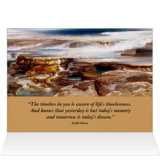 inspirera yellowstone landskap hälsningskort
