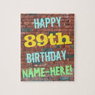 Inspirerad 89th födelsedag för tegelstenvägg pussel