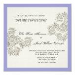 Inspirerad bröllopinbjudan för anpassade vintage fyrkantigt 13,3 cm inbjudningskort