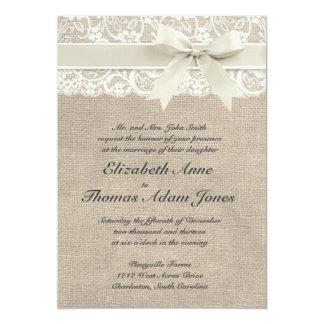 Inspirerad bröllopinbjudan för lantlig vintage 12,7 x 17,8 cm inbjudningskort