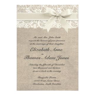 Inspirerad bröllopinbjudan för lantlig vintage anpassningsbara tillkännagivanden