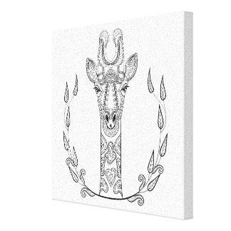 Inspirerad giraff 6 canvastryck