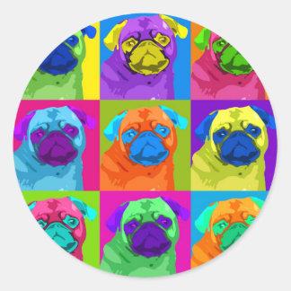 inspirerad mops cirklar klistermärken