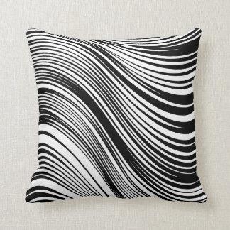 Inspirerad svartvit zebra tryck för chic afrikan kudde