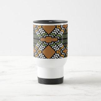 Inspirerad travel mug för art déco rostfritt stål resemugg