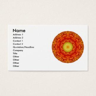 Inspirerade mandela för Zenbuddist visitkortar Visitkort