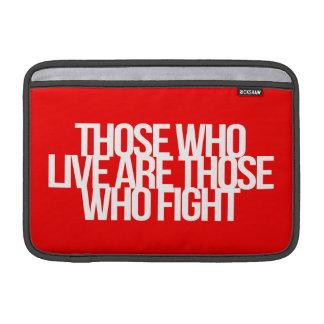 Inspireras och motivational citationstecken sleeves för MacBook air
