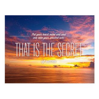 Inspireras och motivational citationstecken vykort