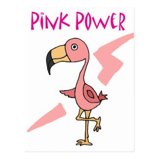 Inspireras rosor driver Flamingofågeln Vykort