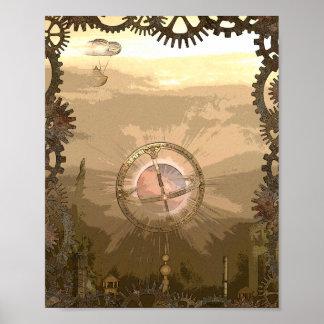 Inspirerat affischtryck för fantasi Steampunk Poster