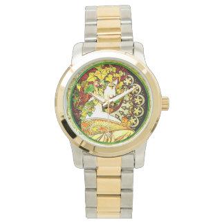 Inspirerat armbandsur för art nouveau