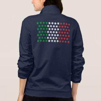 Inspirerat av italiensk flagga. Stjärnaupplaga Jacka