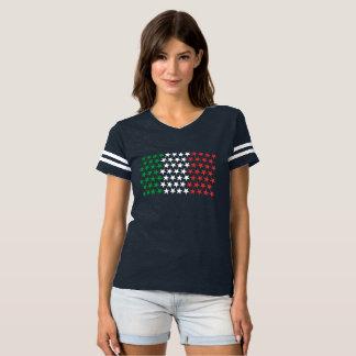 Inspirerat av italiensk flagga. Stjärnaupplaga T-shirt