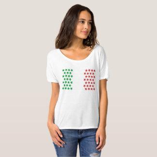 Inspirerat av italiensk flagga. Stjärnaupplaga Tee Shirts