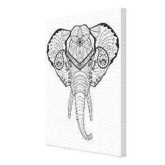 Inspirerat elefanthuvud 6 canvastryck