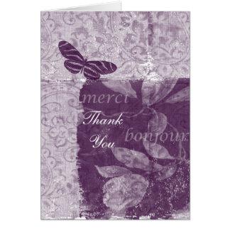 Inspirerat franskt lila tack OBS kort