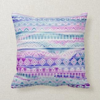 Inspirerat mönster för vattenfärg pastellfärgad kudde
