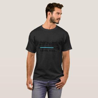 Installera designgrad behaga väntan tee shirt