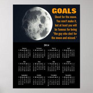 Inställning 2014 för Demotivational kalendermål Affisch