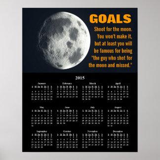 Inställning 2015 för Demotivational kalendermål Poster