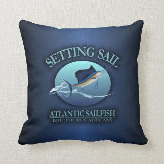 Inställning seglar kudde