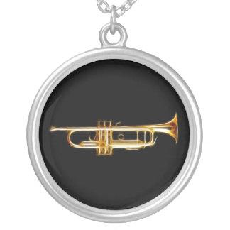 Instrumenterar musikalen för silverpläterat halsband